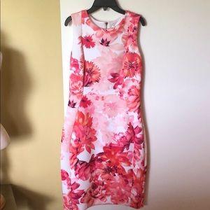 Calvin Klein Pink Floral Sheath Dress Sz. 10